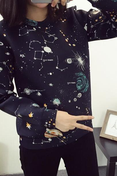Harajuku Galaxy Space Sweater