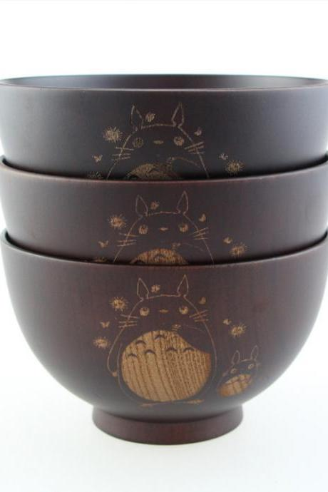Japanese Wood Bowl For Holiday Gifts Hand-carved Craft Kitchen Tools